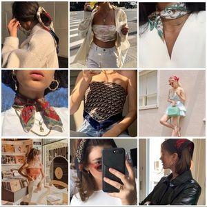 Vintage mini Scarves Inspiration 🦄🌷🌻🌈☀️